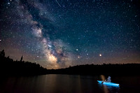 A self-portrait while kayaking under the Milky Way during a camping trip to Nickel Plate Lake Provincial Park on Canada Day.