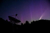 Comet Neowise and the northern lights at White Lake Observatory